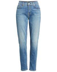 7 For All Mankind - 7 For All Mankind Josefina Crop Boyfriend Jeans - Lyst