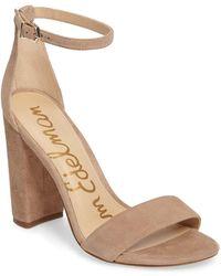 Sam Edelman - Yaro Ankle Strap Block Heel Sandals - Lyst