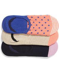 Happy Socks - 3-pack Liner Socks, Pink - Lyst