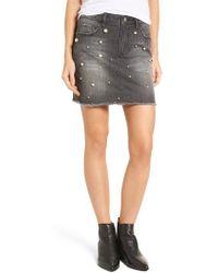 Tinsel - Imitation Pearl Detail Skirt - Lyst