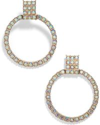 BaubleBar - Gemma Crystal Embellished Hoop Earrings - Lyst