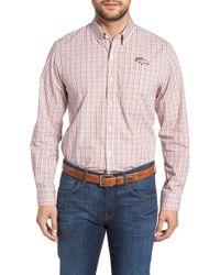 Cutter & Buck - Denver Broncos - Gilman Regular Fit Plaid Sport Shirt - Lyst