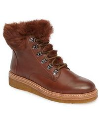 Botkier - Winter Genuine Rabbit Fur Trim Boot - Lyst