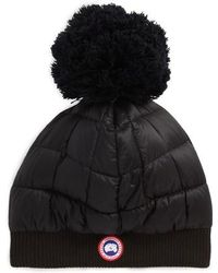Canada Goose | Quilted Down Pom Beanie | Lyst
