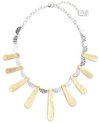 Karine Sultan - Hammered Collar Necklace - Lyst