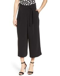 Anne Klein | Belted Cropped Trousers | Lyst