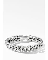 David Yurman - Sterling Silver Curb Chain Bracelet - Lyst