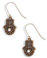 ALEX AND ANI - Hand Of Fatima Hook Earrings - Lyst