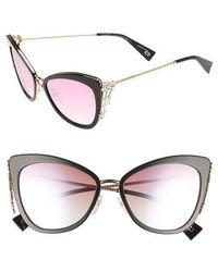 Marc Jacobs - Embellished 56mm Cat Eye Sunglasses - Lyst