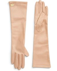 Max Mara - Appia Long Leather Gloves - Lyst
