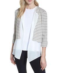 Ming Wang - Layered Look Knit Jacket - Lyst