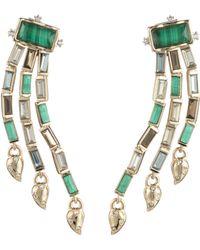 Alexis Bittar - Retro Gold Collection Fancy Baguette Sculptural Earrings - Lyst