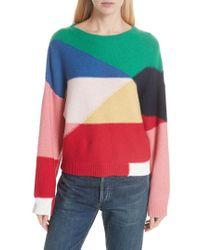 Joie - Megu Colorblock Wool & Cashmere Sweater - Lyst