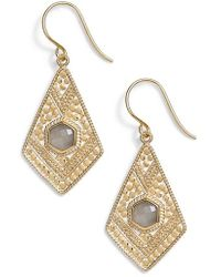 Anna Beck - Grey Moonstone Kite Drop Earrings - Lyst