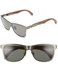 Shwood - 'canby' 54mm Titanium & Wood Sunglasses - Gunmetal/ Walnut - Lyst