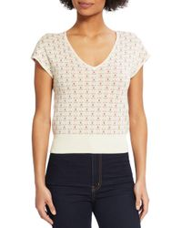 ModCloth - Floral Short Sleeve Sweater - Lyst