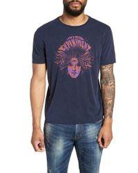 John Varvatos - Mind Experiment Graphic Tee Kg3863u2b (navy) Men's T Shirt - Lyst