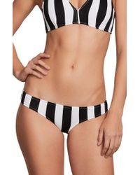 Volcom - Stripe Club Classic Bikini Bottoms - Lyst