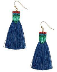 Sandy Hyun - Stone Tassel Drop Earrings - Lyst