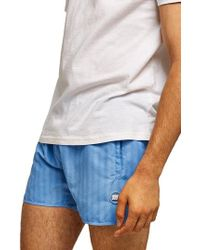 TOPMAN - Stripe Swim Trunks - Lyst