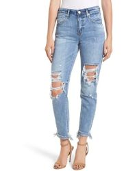 Blank NYC - The Rivington Ripped Straight Leg Jeans - Lyst