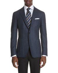 Canali - Classic Fit Herringbone Wool Sport Coat - Lyst