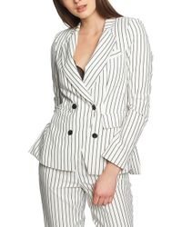 1.STATE - Striped Double-breasted Jacket - Lyst