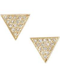 Dana Rebecca - 'emily Sarah' Diamond Pave Triangle Stud Earrings (nordstrom Exclusive) - Lyst