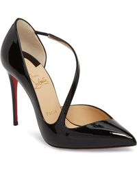 358965635a80 Christian Louboutin - Strappy Half D orsay Pump - Lyst