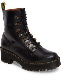 Dr. Martens - Leona Heeled Boot - Lyst