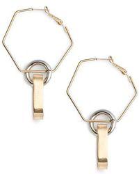 BP. - Mixed Metal Geometric Hoop Earrings - Lyst