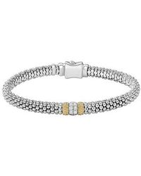 Lagos - Diamond Lux Pave Station 6mm Bracelet - Lyst