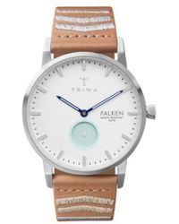 Triwa - Falken Embroidered Leather Strap Watch - Lyst