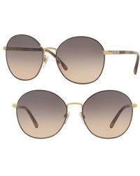 Burberry - 56mm Gradient Round Sunglasses - - Lyst