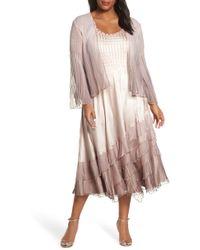 b2da6b68875 Lyst - Rebecca Taylor Dress - Ombré Leopard Print Silk in Pink