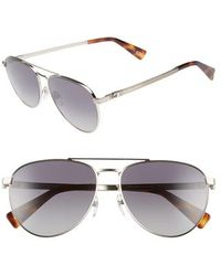 Marc Jacobs - 59mm Polarized Aviator Sunglasses - - Lyst