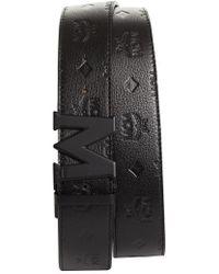 MCM - Monogram Leather Belt - Lyst