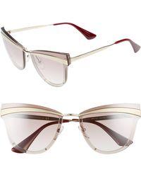 6b5edd74eb Prada - Cinema Evolution 65mm Cat Eye Sunglasses - Lyst