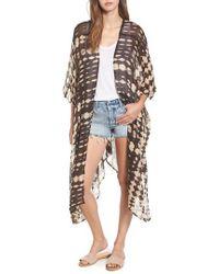Sole Society - Tie Dye Kimono - Lyst