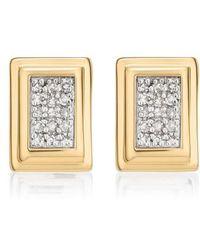 Monica Vinader | Baja Deco Diamond Stud Earrings | Lyst