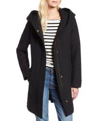 Cole Haan - Textured Hooded Coat - Lyst