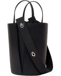 443a8691c6cf Lyst - 3.1 Phillip Lim Quill Mini Bucket Bag in Black