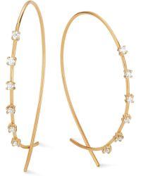 Lana Jewelry - Lana Solo Small Upside Down Hoop Earrings - Lyst