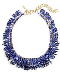 Lele Sadoughi - Shaggy Stone Bib Necklace - Lyst