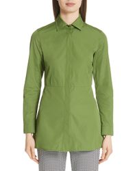 Max Mara - Losanna Pleat Back Shirt - Lyst