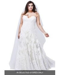 Watters - Lyric Strapless Lace Gown - Lyst