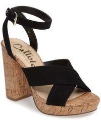Callisto | Windye Platform Ankle Strap Sandal | Lyst