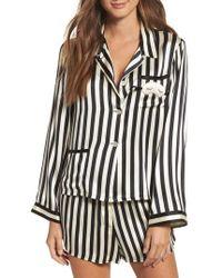 Morgan Lane | X Amanda Fatherazi Ruthie Mini Mask Stripe Pajama Top | Lyst