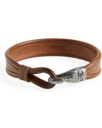 Ferragamo - Leather Bracelet - Lyst