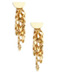 Madewell - Oval Disc Fringe Drop Earrings - Lyst